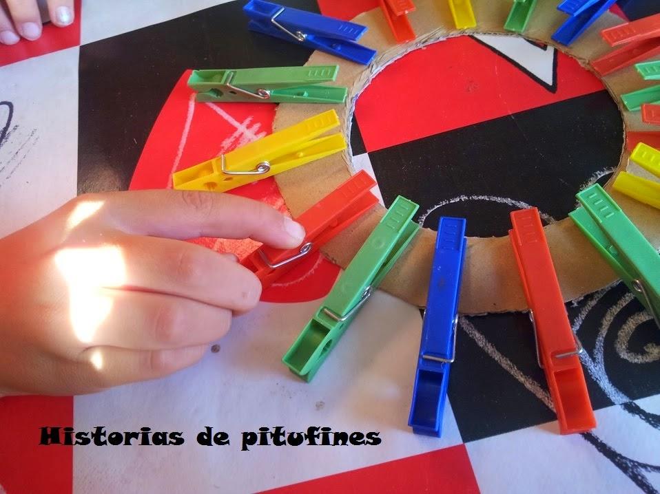 marcos de fotos con pinzas