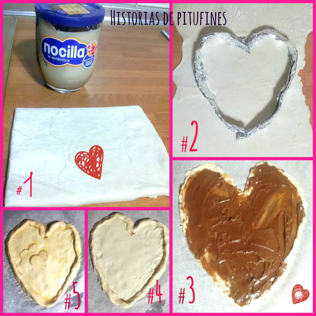 Corazón de hojaldre para San Valentín