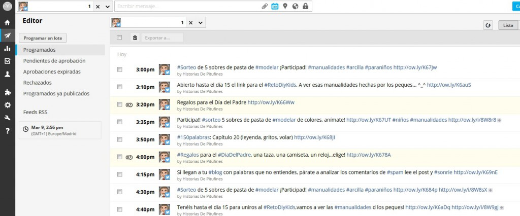 Hootsuite editor