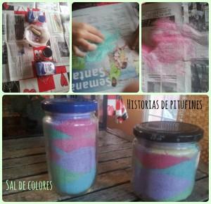 frascos sal de colores