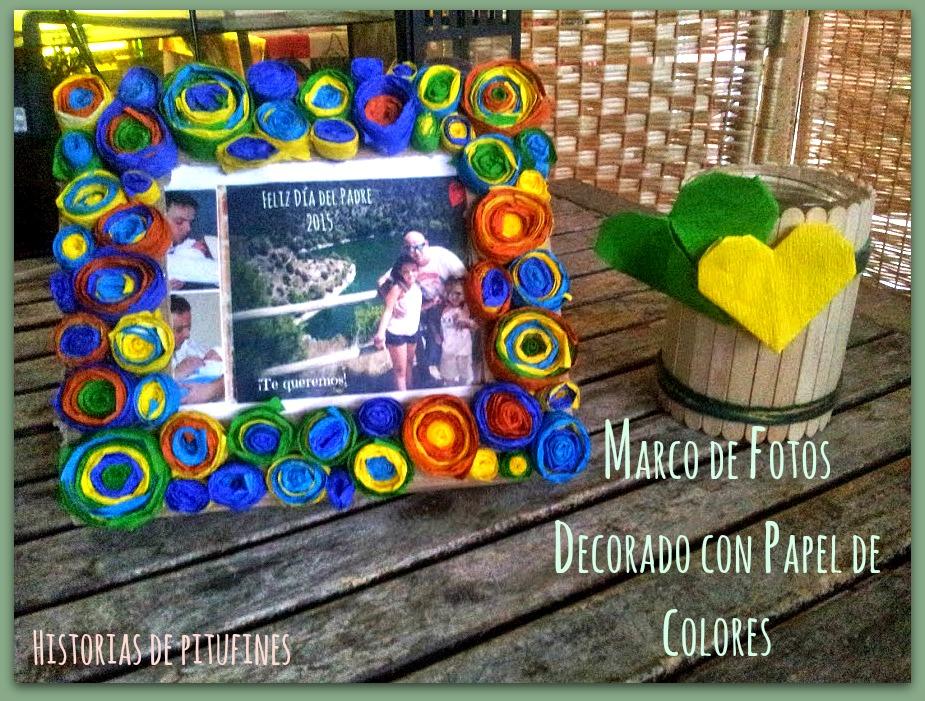 Marco de fotos decorado con papel for Imagenes de papel decorado