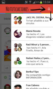 notificaciones Google + movil