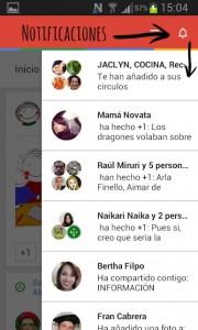 notificaciones Google + movil