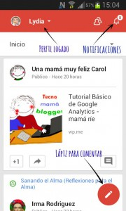 portada google+ móvil