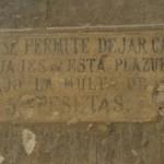 Letrero en Segovia