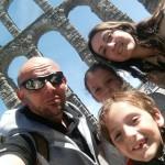 Selfie familiar en Segovia
