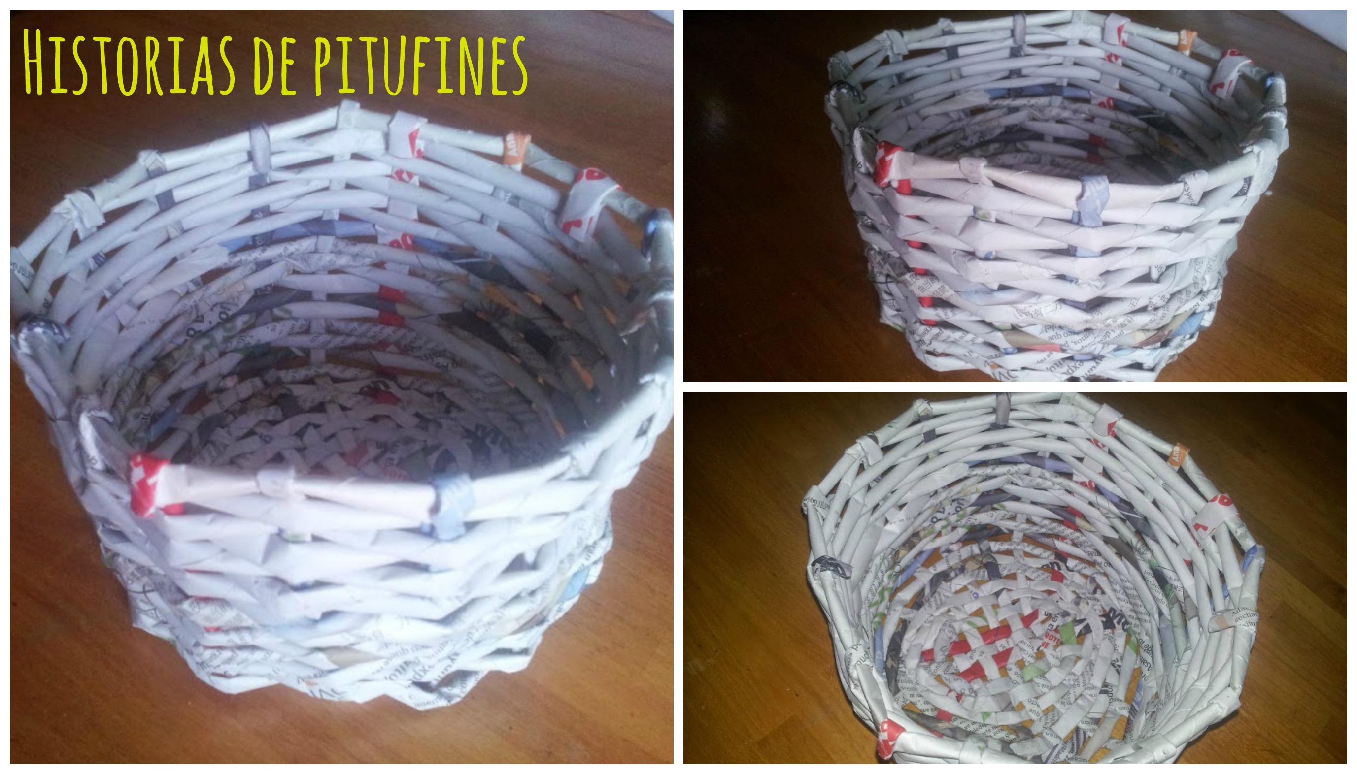 C mo hacer cestas con papel - Decorar cestas de mimbre paso a paso ...