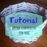 Cómo hacer cestas con papel