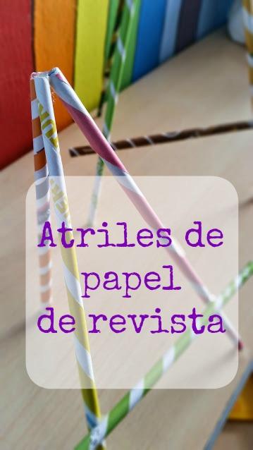 atriles de papel reciclado