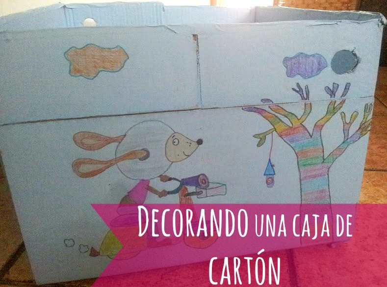 Decorar Caja Carton Rupestre