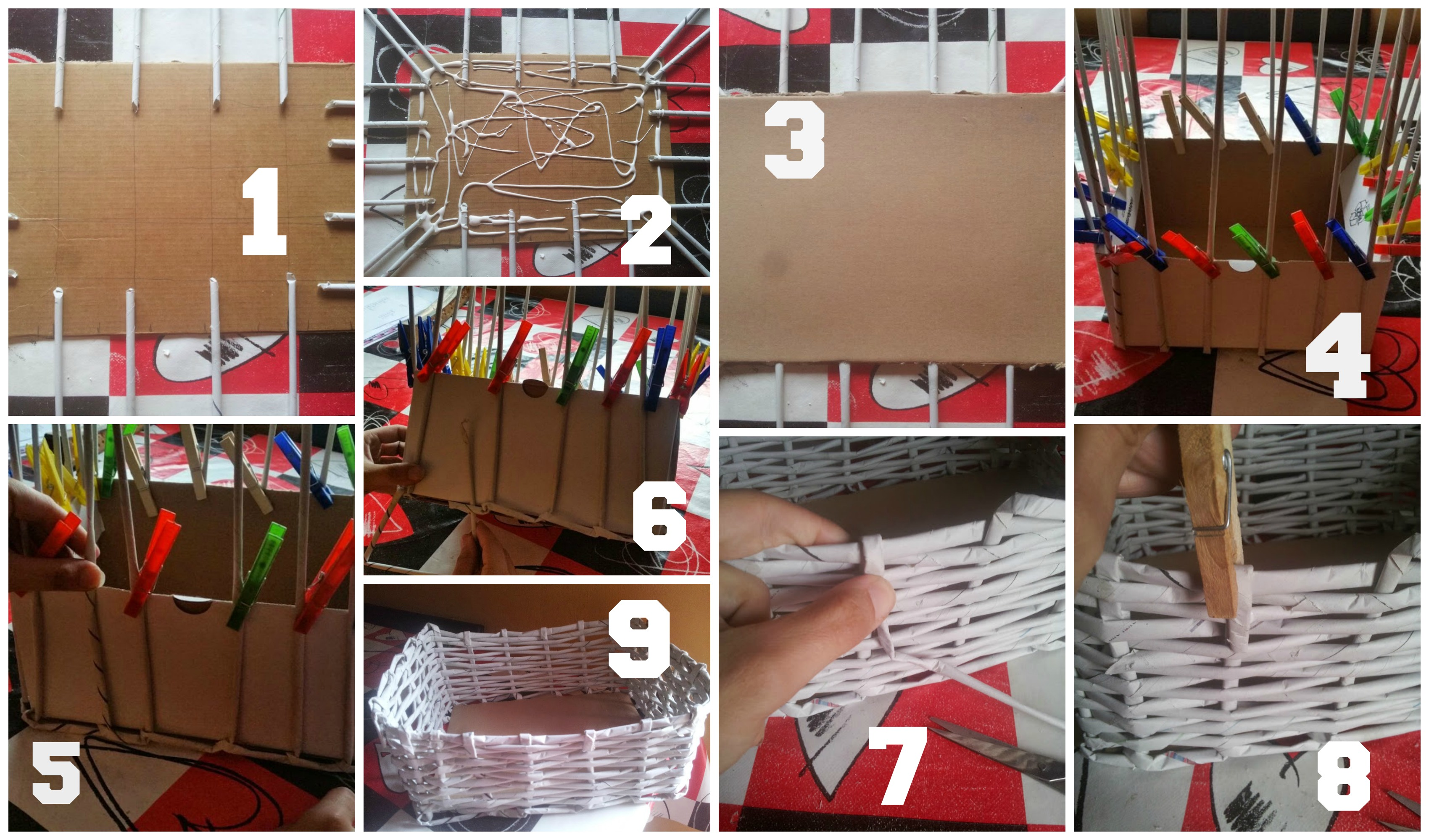 Cesto de papel periodico cestas con papel de peri 243 - Cestas de papel de periodico ...