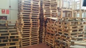 montones de palets