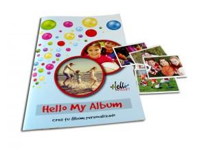 álbum de cromos con fotos