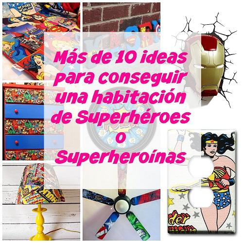 habitación superhéroes