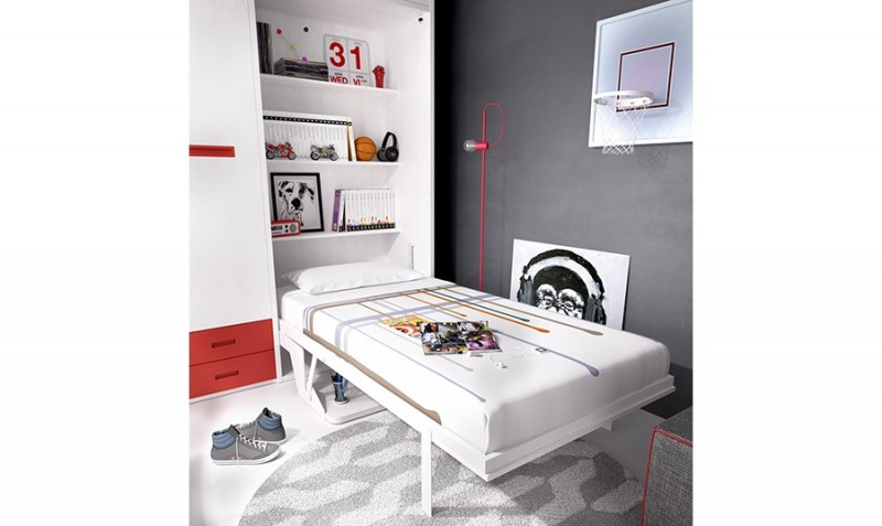 12 camas para habitaciones peque as - Sistema cama abatible ...