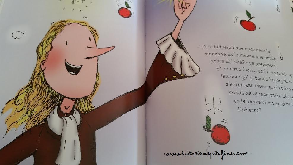 el sabio y la manzana