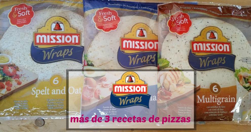 Mission Wraps: receta 3 pizzas y más