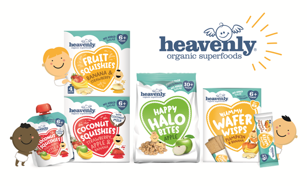 Snacks orgánicos para bebés y niños: Heavenly Tasty Organics