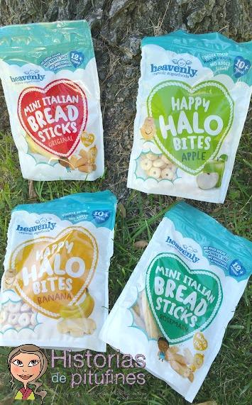 snacks orgánicos para bebés y niños