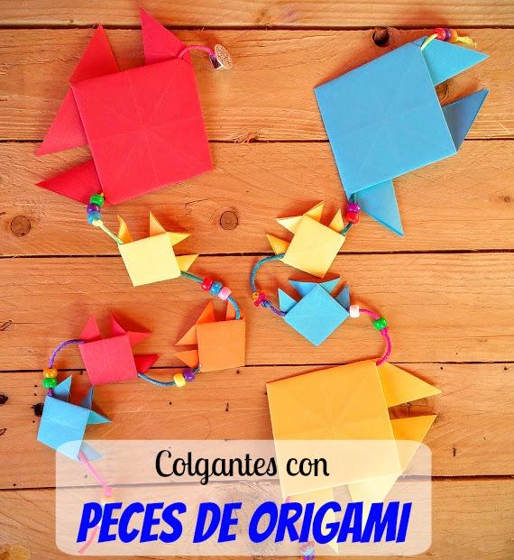 Colgantes de peces de origami para el #RetoPapelisimo