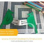 Cómo hacer un pájaro carpintero de papel