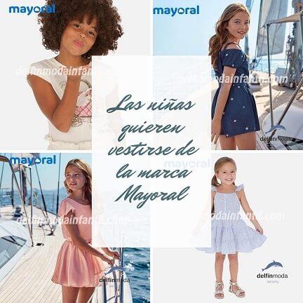 Las niñas quieren vestir de la marca Mayoral